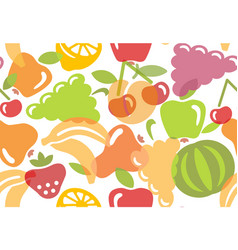 seamless background of fruit vector image