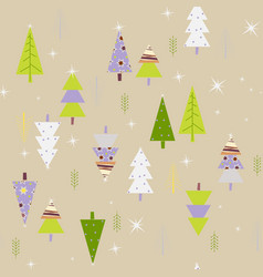 seamless pattern with a nice forest landscape vector image vector image