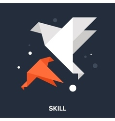 Skill icon vector