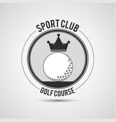 Sport club golf course ball crown vector