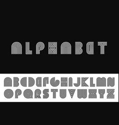 Striped english alphabet vector