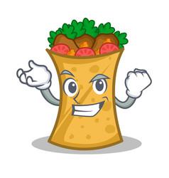 Successful kebab wrap character cartoon vector