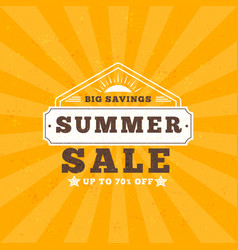 Summer sale banner typographic retro style summer vector