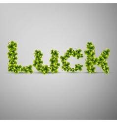 Trefoil clover luck vector