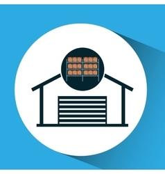 Warehouse boxes concept icon vector