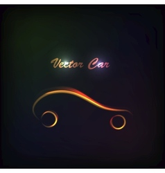 Luminous silhouette car sign vector