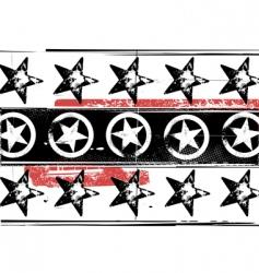 grunge stars pattern vector image