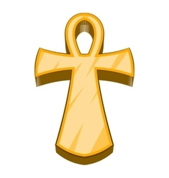 Egyptian ankh icon cartoon style vector image