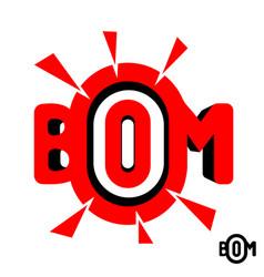 Inscription boom vector