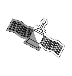 Space satellite technology vector