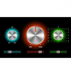 Volume balance knobs vector