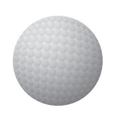 Isolated golf ball vector