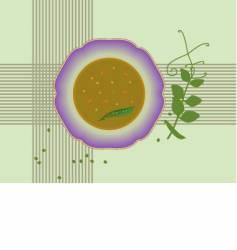 pea soup vector image