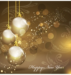 New years gold background vector