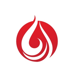Fire flames logo vector