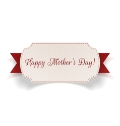 Happy mothers day banner with ribbon vector