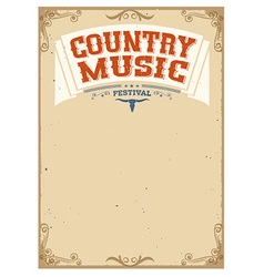 Country music festival background for text vector