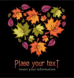 autumn heart vector image