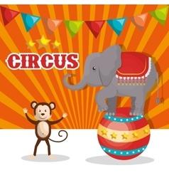 Circus show design vector