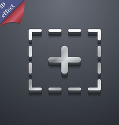 Plus in square icon symbol 3d style trendy modern vector