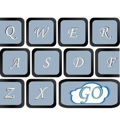 Button on the computer keyboard which go write vector