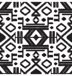 Abstract tribal black and white seamless vector