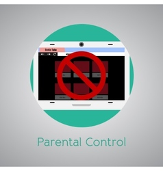 Access forbidden to web page for children vector