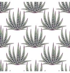 Agave succulent desert seamless pattern vector