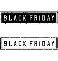 black friday sale holiday grunge vector image vector image