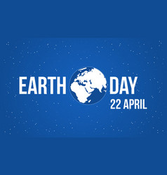 blue background earth day style vector image