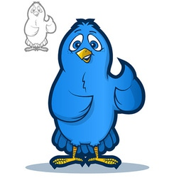 Blue Bird Mascot vector image vector image