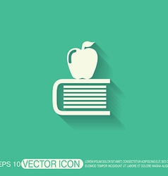 Book with apple icon Education sign vector image