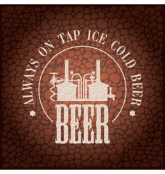 brewery on stone wall vector image vector image