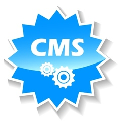 Cms blue icon vector