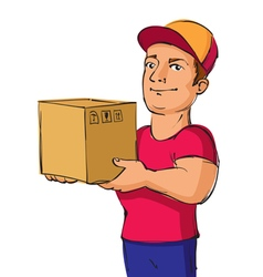 delivery service man vector image vector image