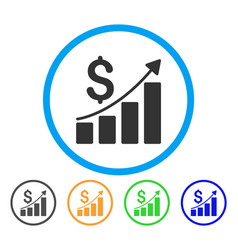 financial report rounded icon vector image vector image