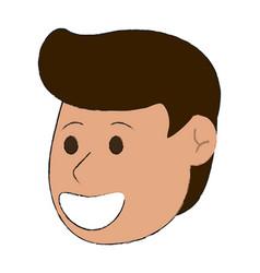 happy man smiling cartoon icon image vector image vector image