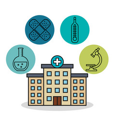 hospital building medical healthy design vector image