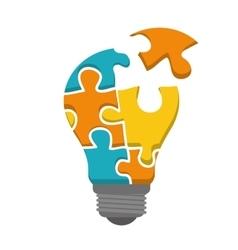 Innovate disign idea icon flat vector