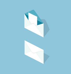 Letter in envelope isometric vector