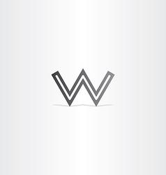 Letter w black logo icon vector