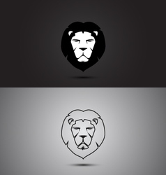Lion modern two tone and outline shape logo design vector image vector image