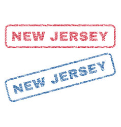 New jersey textile stamps vector