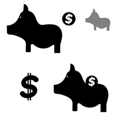 Pig and money for finance vector