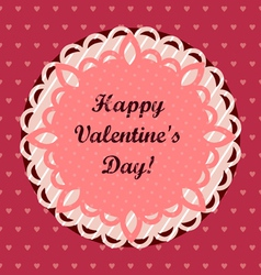 Pink Valentines Day Greeting Card vector image vector image