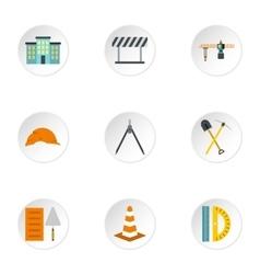 Repair tools icons set flat style vector