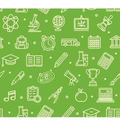 School Background Pattern vector image vector image
