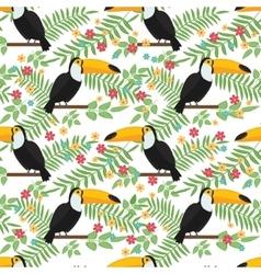 Tropical bird seamless pattern background vector