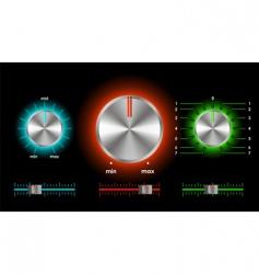 volume balance knobs vector image vector image