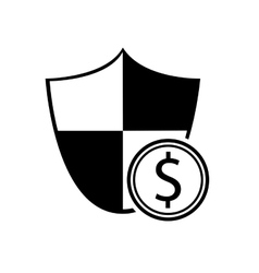 shield and coin icon vector image